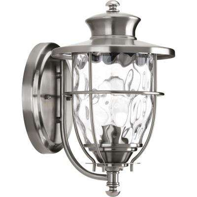 Beacon Collection 1-Light Stainless Steel Outdoor Wall-Mount Lantern