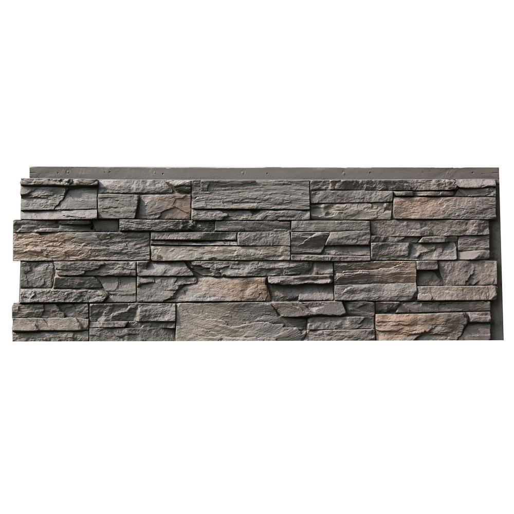Nextstone slatestone brunswick brown in x 43 in - Faux stone exterior siding panels ...
