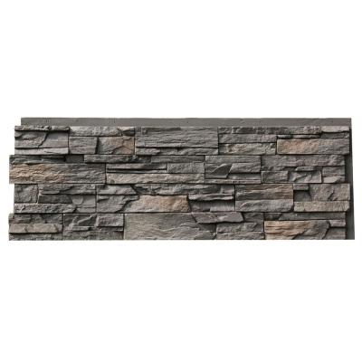 Country Ledgestone 43.5 in x 15.5 in. Faux Stone Siding Panel in Appalachian Gray (4-Pack)