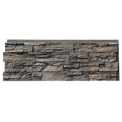 Country Ledgestone 15.5 in. x 43.5 in. Appalachian Gray Faux Stone Siding Panel (4-Pack)