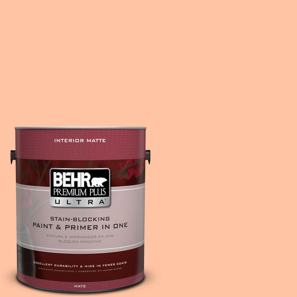 1 gal. #P200-3 Tomorrow's Coral Matte Interior Paint