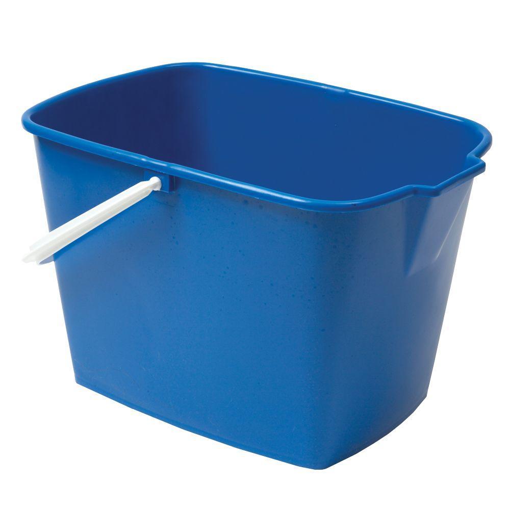 Ti-Dee American 12 qt. Heavy Duty Rectangle Utility Mop Bucket