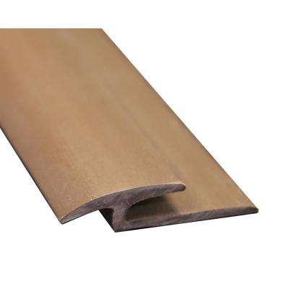 Brown 3/8 in. Thick x 1-3/8 in. Wide x 72 in. Length Vinyl Floor Rubber T-Molding