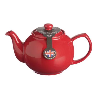 6-Cup Red Stoneware Teapot