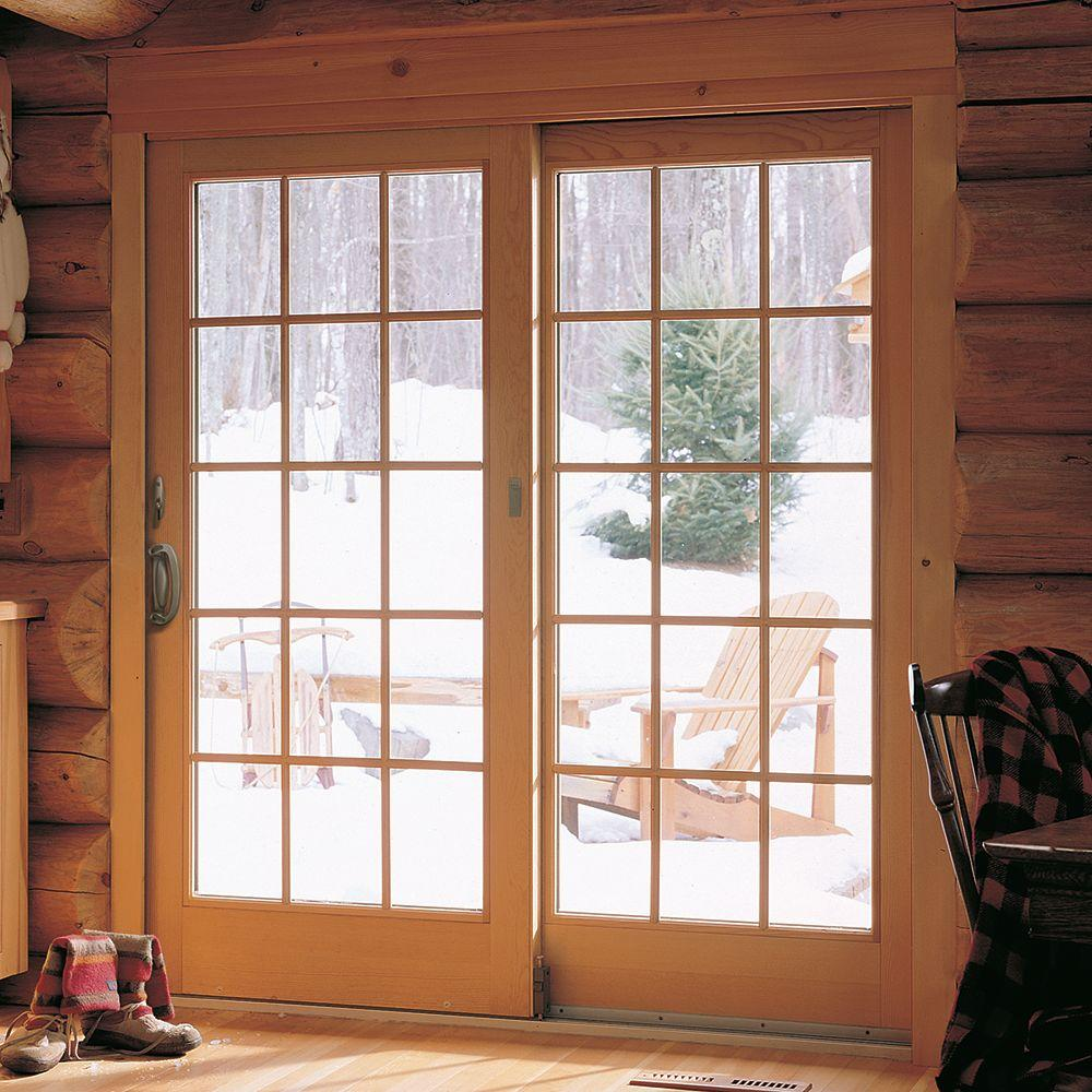 Andersen 72 In X 80 In 400 Series Frenchwood Sliding Patio Door White Right Hand Frame Kit