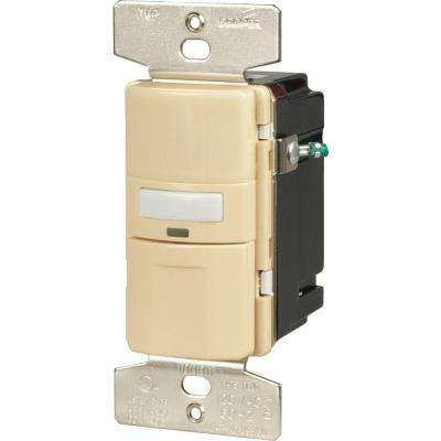 Motion-Activated Vacancy Sensor Wall Switch, Ivory