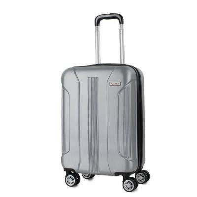 Sierra Silver 20 in. Carry-On Expandable Hardside Spinner Luggage