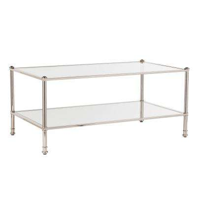 Britt Metallic Silver Cocktail Table
