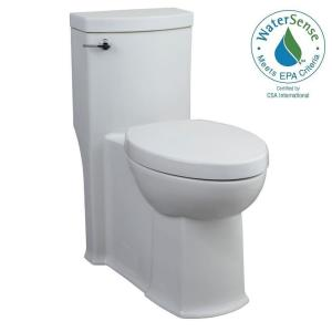 American Standard Boulevard FloWise Tall Height 1-piece 1.28 GPF Single Flush Elongated Toilet with Concealed Trap-Way... by American Standard
