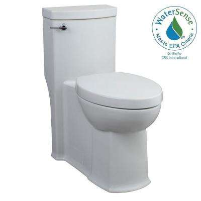 Boulevard FloWise 1-piece 1.28 GPF Single Flush Elongated Toilet with Concealed Trap-Way in White