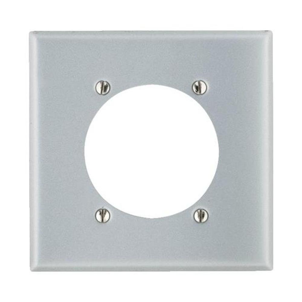 Leviton 2-Gang Standard Size with 2.15 in. Dia Hole and Steel Power ...