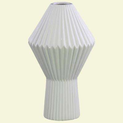 White Gloss Finish Ceramic Decorative Vase