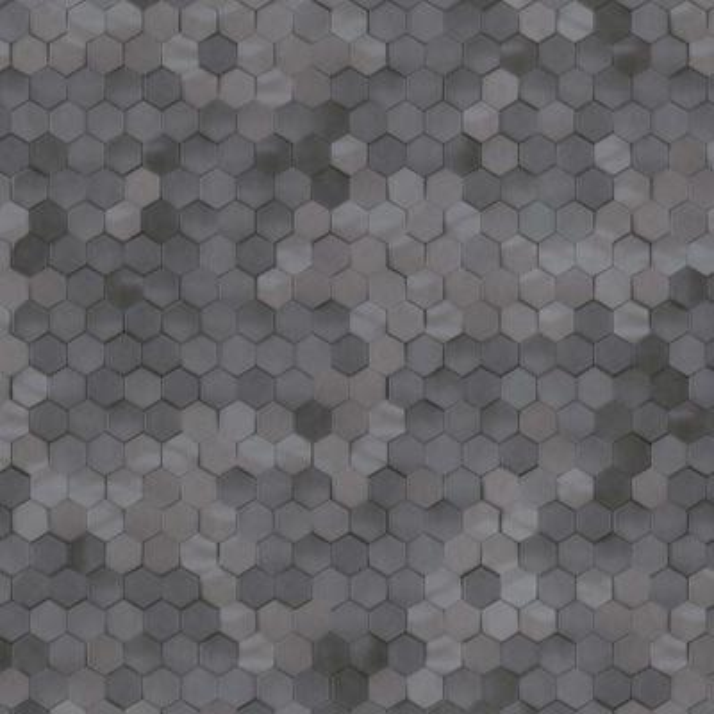 Dark Grey Shimmering Hexagons