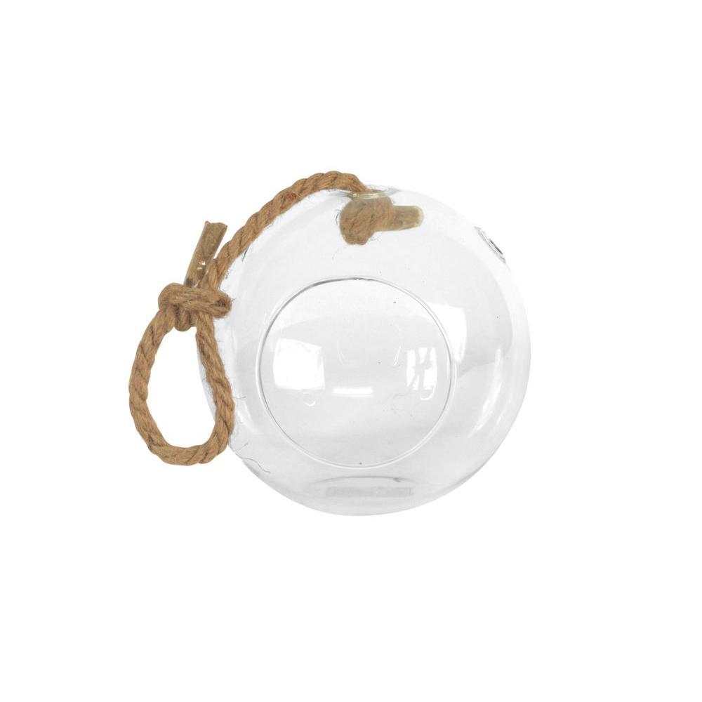 Sphere 6 in. x 6 in. Glass Hanging Terrarium