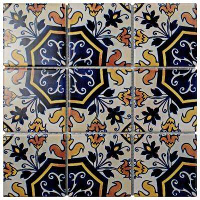 Affinity Monarch Delias 11-3/4 in. x 11-3/4 in. x 6 mm Porcelain Mosaic Tile