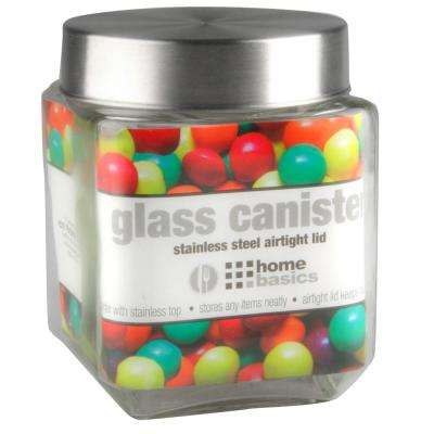 40 oz. Square Glass Canister