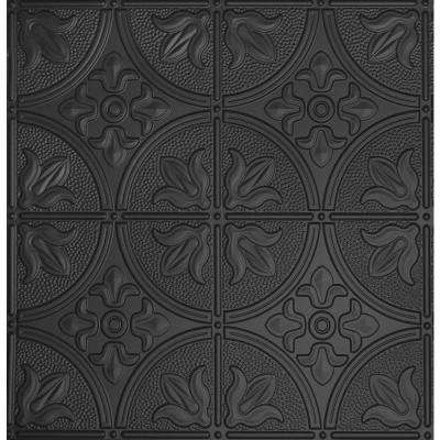 Dimensions 2 Ft X 2 Ft Matte Black Lay In Tin Ceiling Tile For T Grid Systems