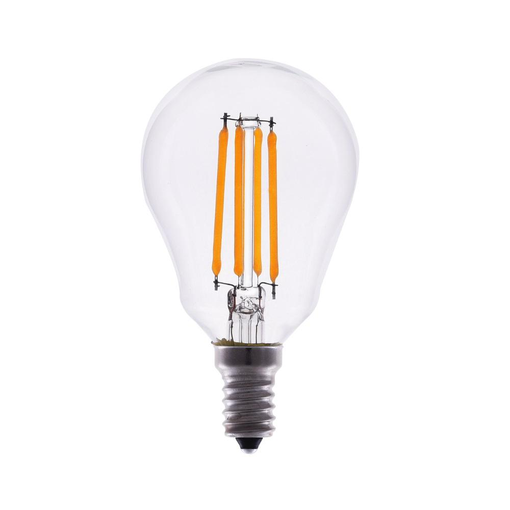 TriGlow 40-Watt Equivalent A15 Dimmable Clear Glass Filament LED Light Bulb Warm White 2700K