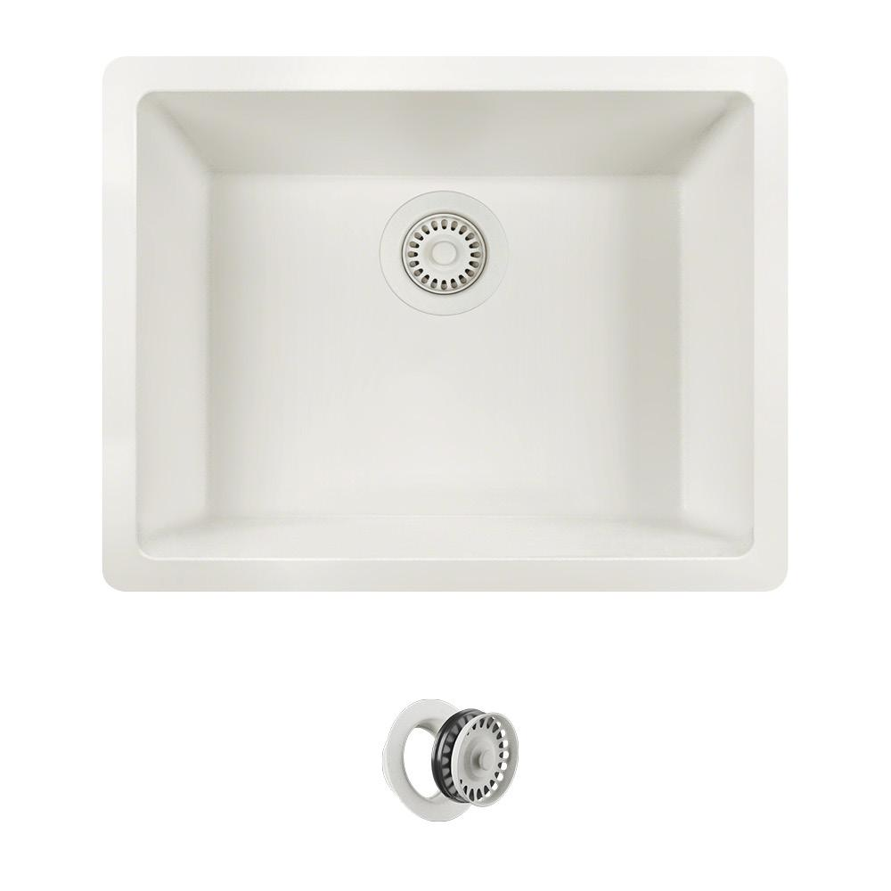 MR Direct All-in-One Dualmount Quartz 22 in. Single Bowl Kitchen ...