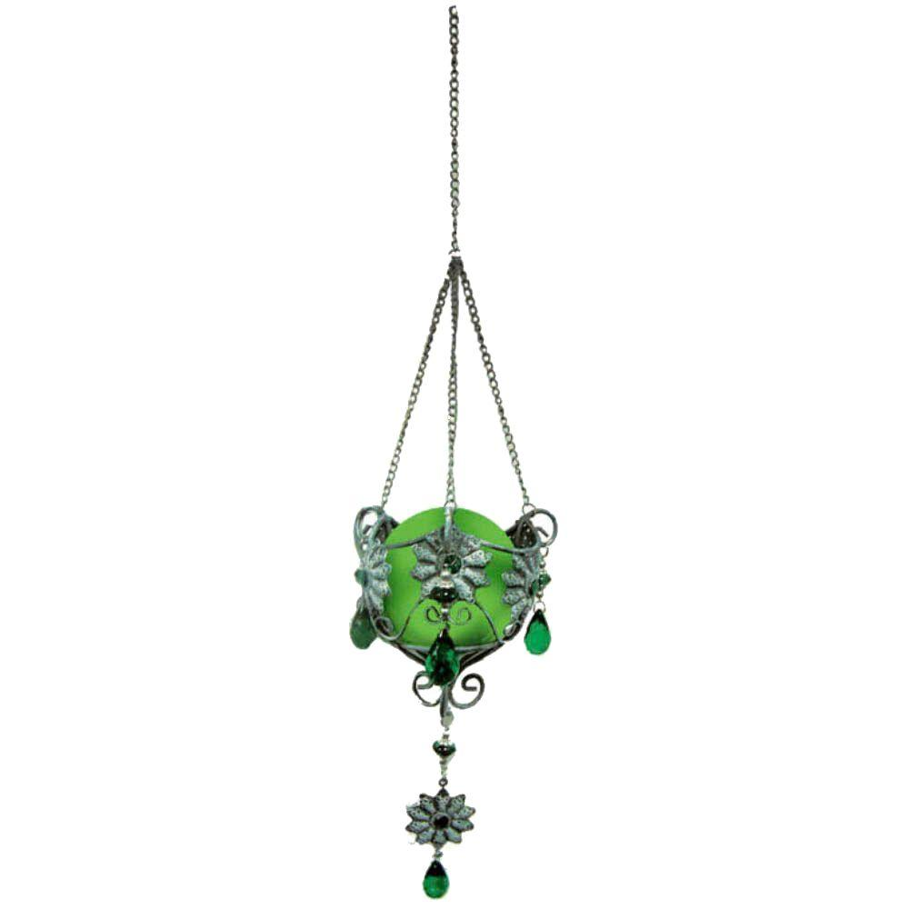 null 12 in. Solar Hanging Jewel Danglabouts with Green Light-DISCONTINUED
