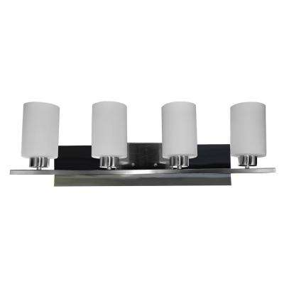10-Watts Dimmable 4-Light LED Chrome Vanity Light