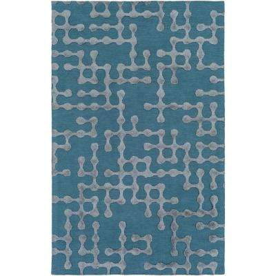 Satuni Bright Blue 2 ft. x 3 ft. Indoor Area Rug