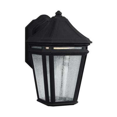 Londontowne Integrated LED Outdoor Black Wall Lantern Sconce