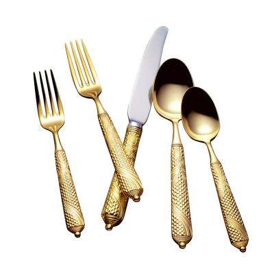 Byzantine 24K 5-Piece Flatware Place Setting