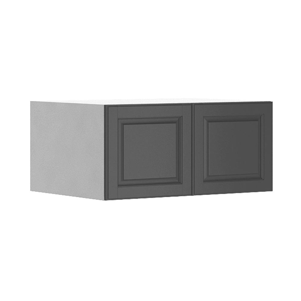 Eurostyle Ready To Assemble 33x15x24 In. Buckingham Fridge Top Wall Cabinet  In White Melamine And