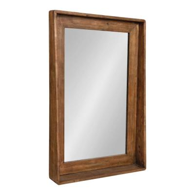 Medium Rectangle Brown Neo-Classical Mirror (36.5 in. H x 23.75 in. W)