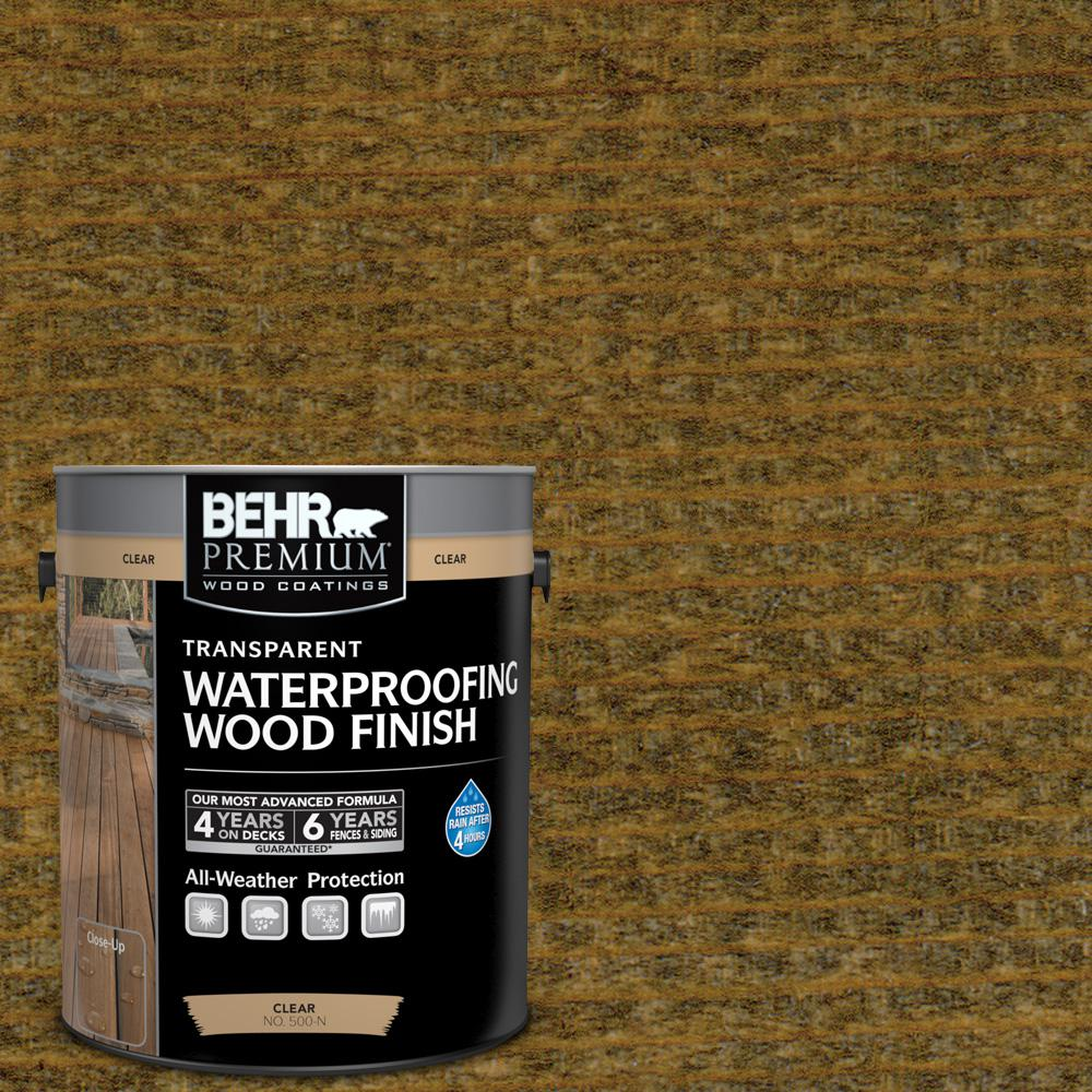 1 gal. #T-104 Cordovan Brown Transparent Waterproofing Wood Finish