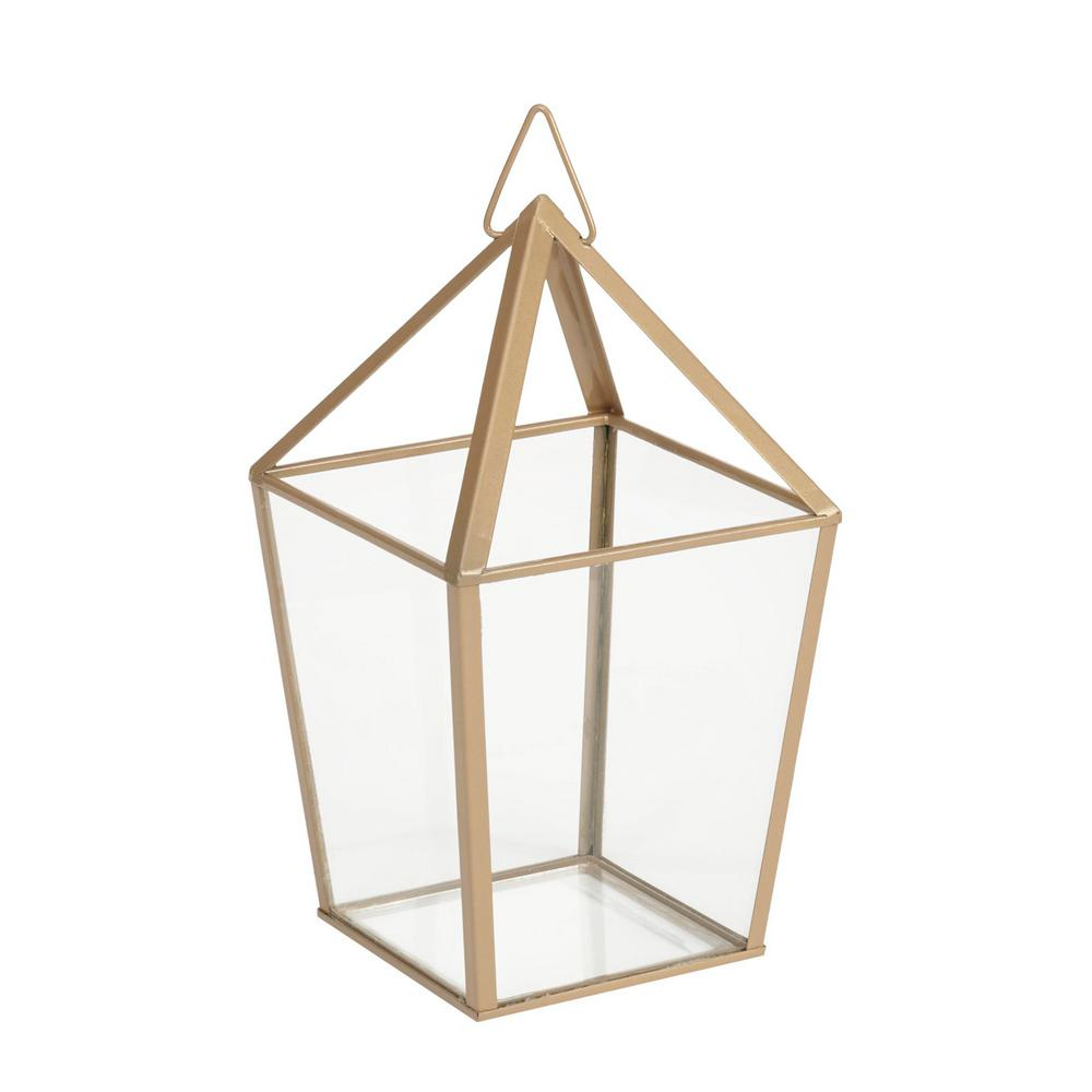 Hampton Bay 9 in. Metal and Glass Terrarium