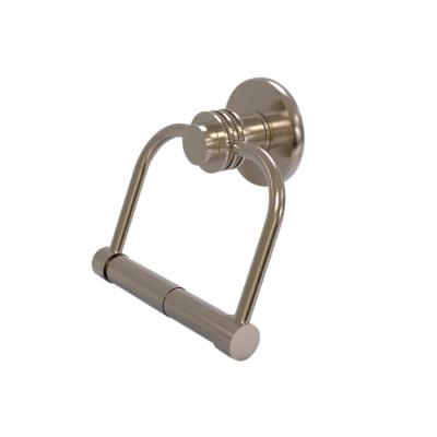 Mercury Collection Single Post Toilet Paper Holder with Dotted Accents in Antique Pewter