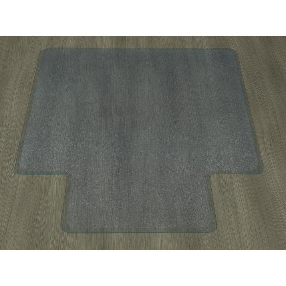 ottomanson hard floor clear 36 in x 48 in with lip vinyl chair mat
