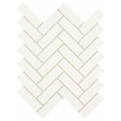 Restore Bright White 9 in. x 12 in. x 6.35mm Ceramic Mosaic Wall Tile (0.6 sq. ft. / Piece)