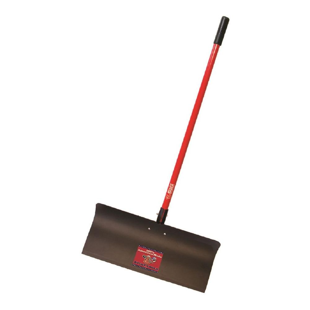 Bully Tools 24 in  Steel Snow Pusher with Fiberglass Long Handle