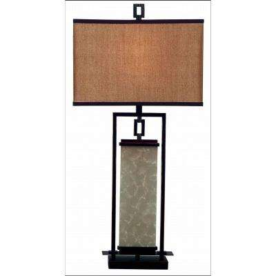 Plateau 32 in. Oil-Rubbed Bronze and Glass Table Lamp
