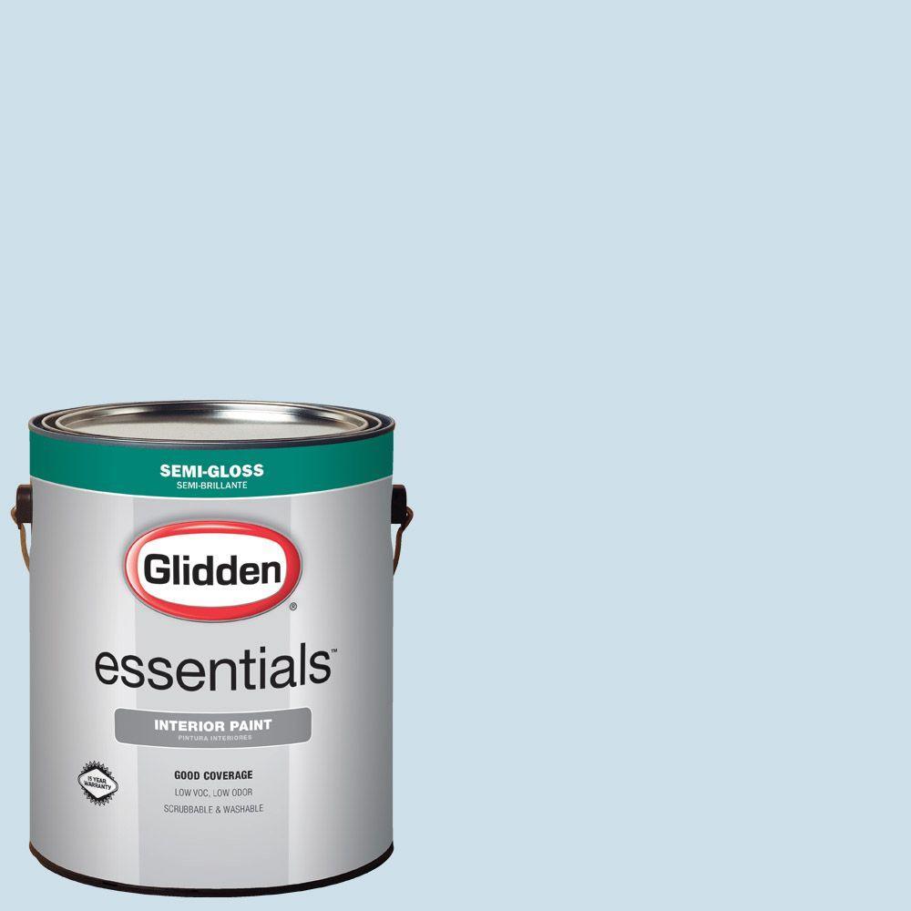 1 gal. #HDGB57U Soft Cloud Blue Semi-Gloss Interior Paint
