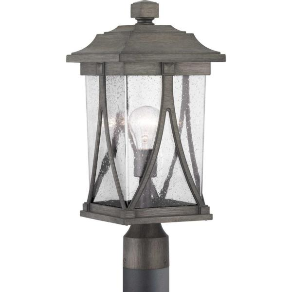 Abbott Collection 1-Light Outdoor Antique Pewter Post Light