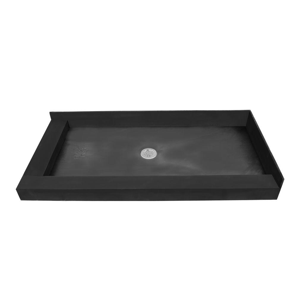 Redi Base 37 in. x 60 in. Double Threshold Shower Base with Center Drain