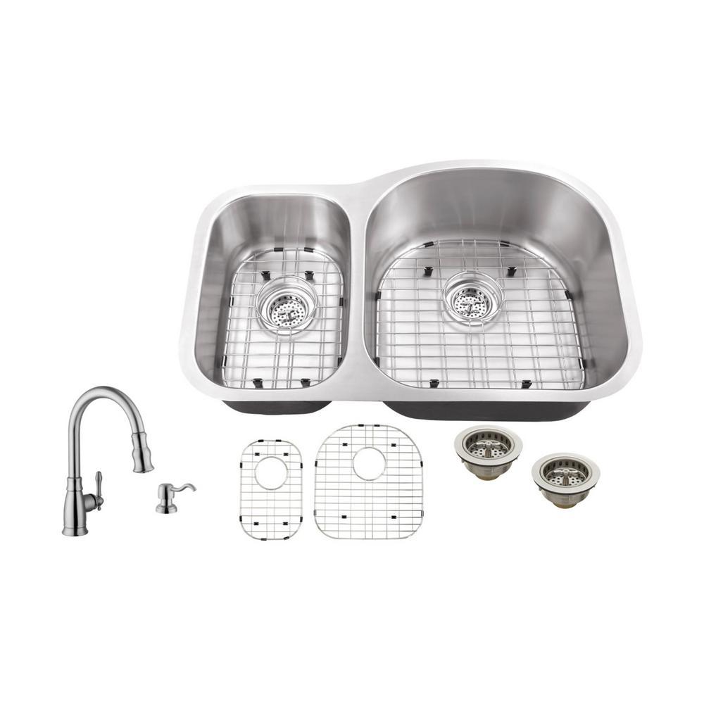 Ipt sink company undermount 32 in 16 gauge stainless steel kitchen ipt sink company undermount 32 in 16 gauge stainless steel kitchen sink in brushed workwithnaturefo