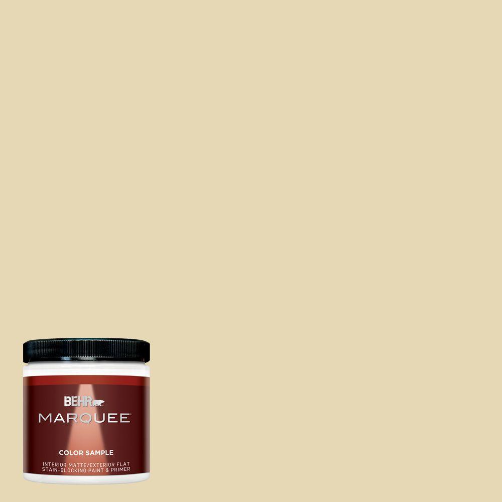 BEHR MARQUEE 8 oz. #MQ3-42 Honey Mist Interior/Exterior Paint Sample