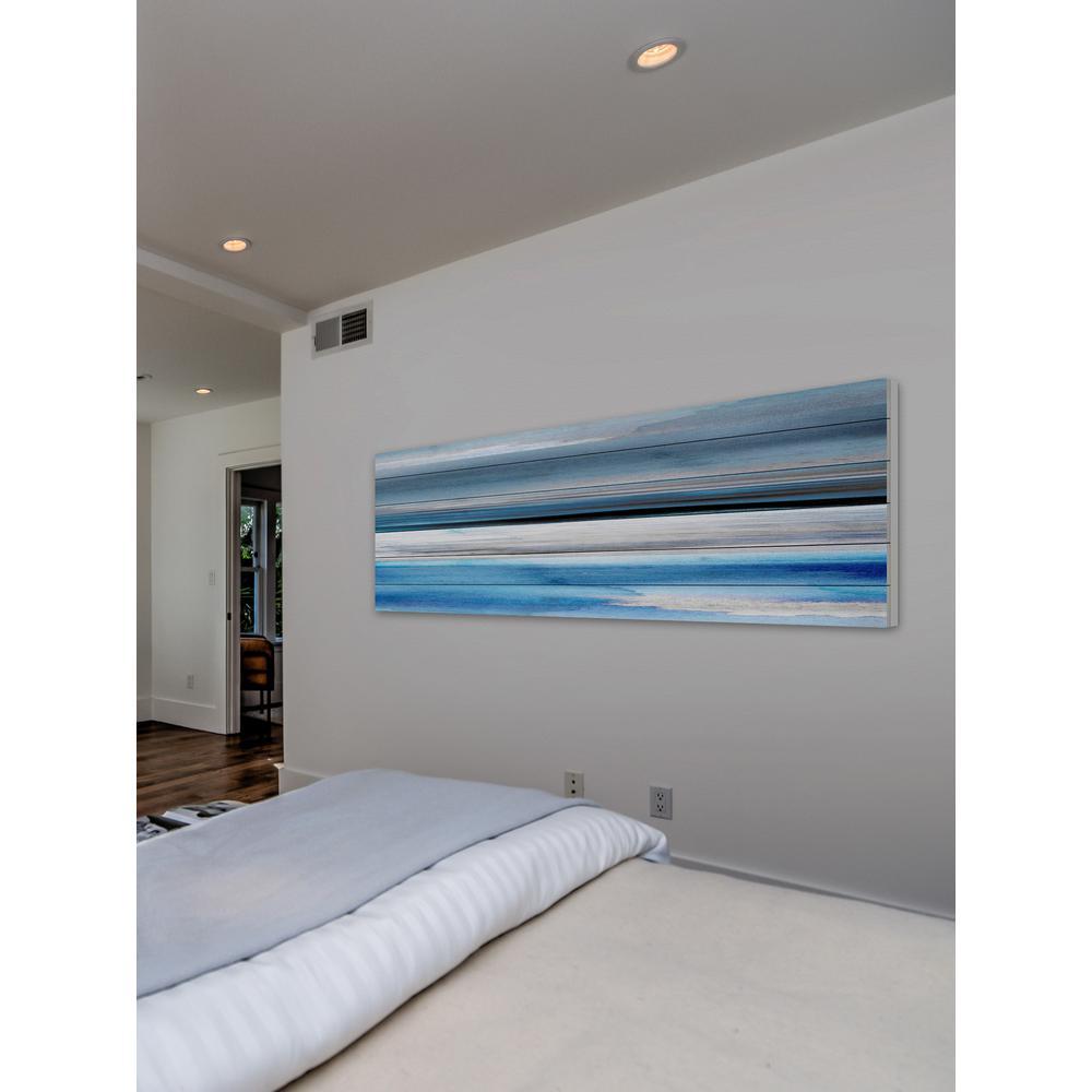 "20 in. H x 60 in. W ""Pikakari"" by Parvez Taj Printed White Wood Wall Art"