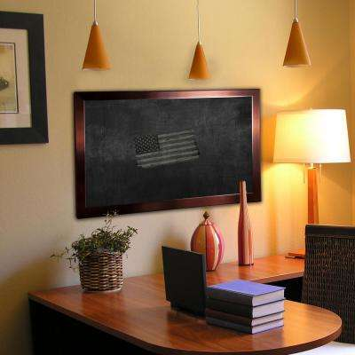 76 in. x 22 in. Shiny Bronze Blackboard/Chalkboard