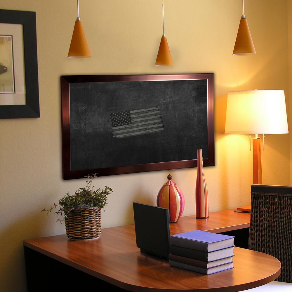 52 in. x 28 in. Shiny Bronze Blackboard/Chalkboard