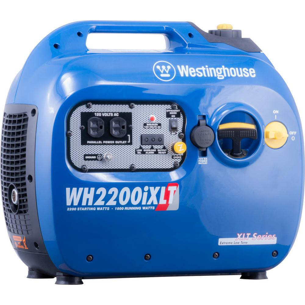 Westinghouse 2,200/1,800-Watt Gasoline Powered Digital Inverter Generator on
