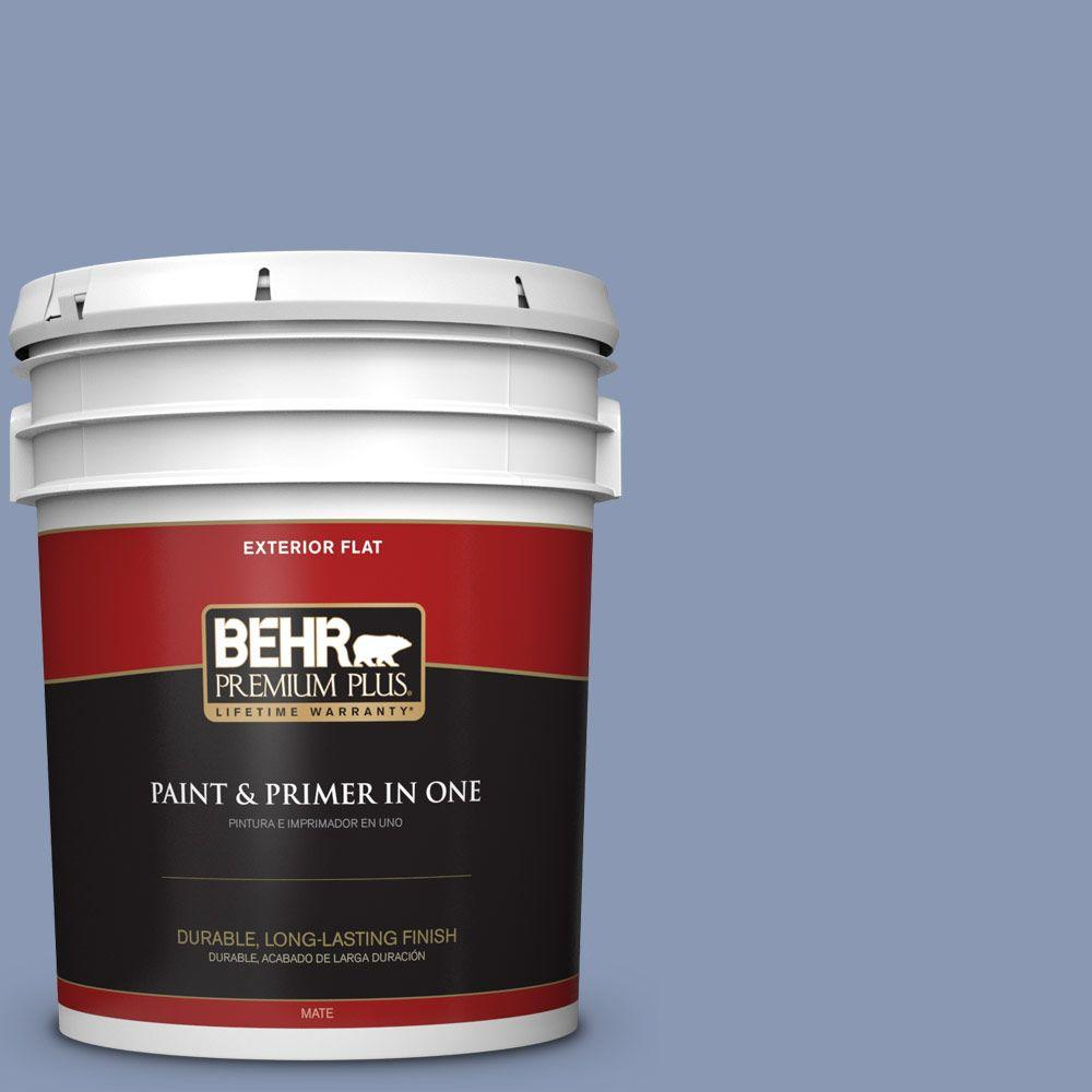 5-gal. #600F-5 Blueberry Buckle Flat Exterior Paint