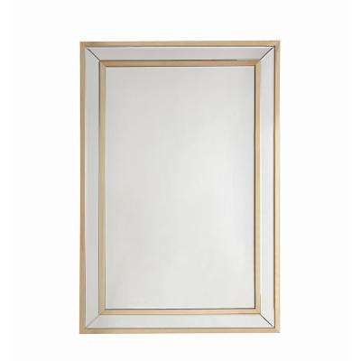Osma Mirrored and Gold Accent Mirror