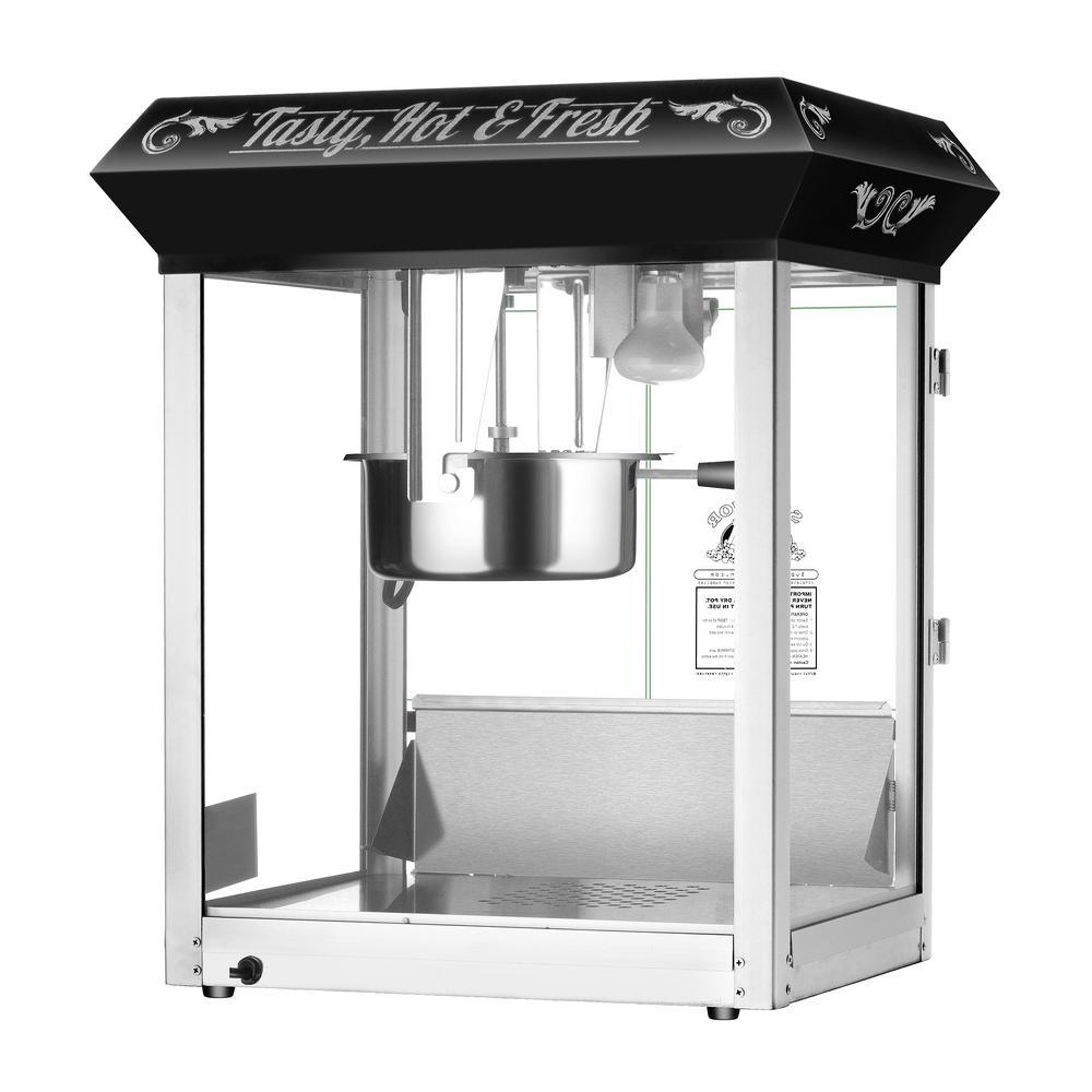 8 oz. Hot and Fresh Black Countertop Style Popcorn Popper