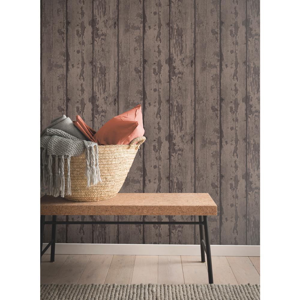 Mahogany Wood Plank Wallpaper